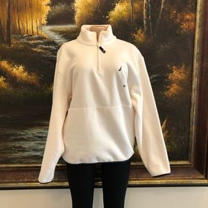 3/$25☀️ Nautica 1/4 Zip Cream Fleece Jacket